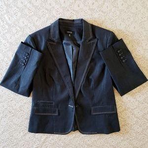 Rafaella Blue w/tan stitching lined Jacket 10P